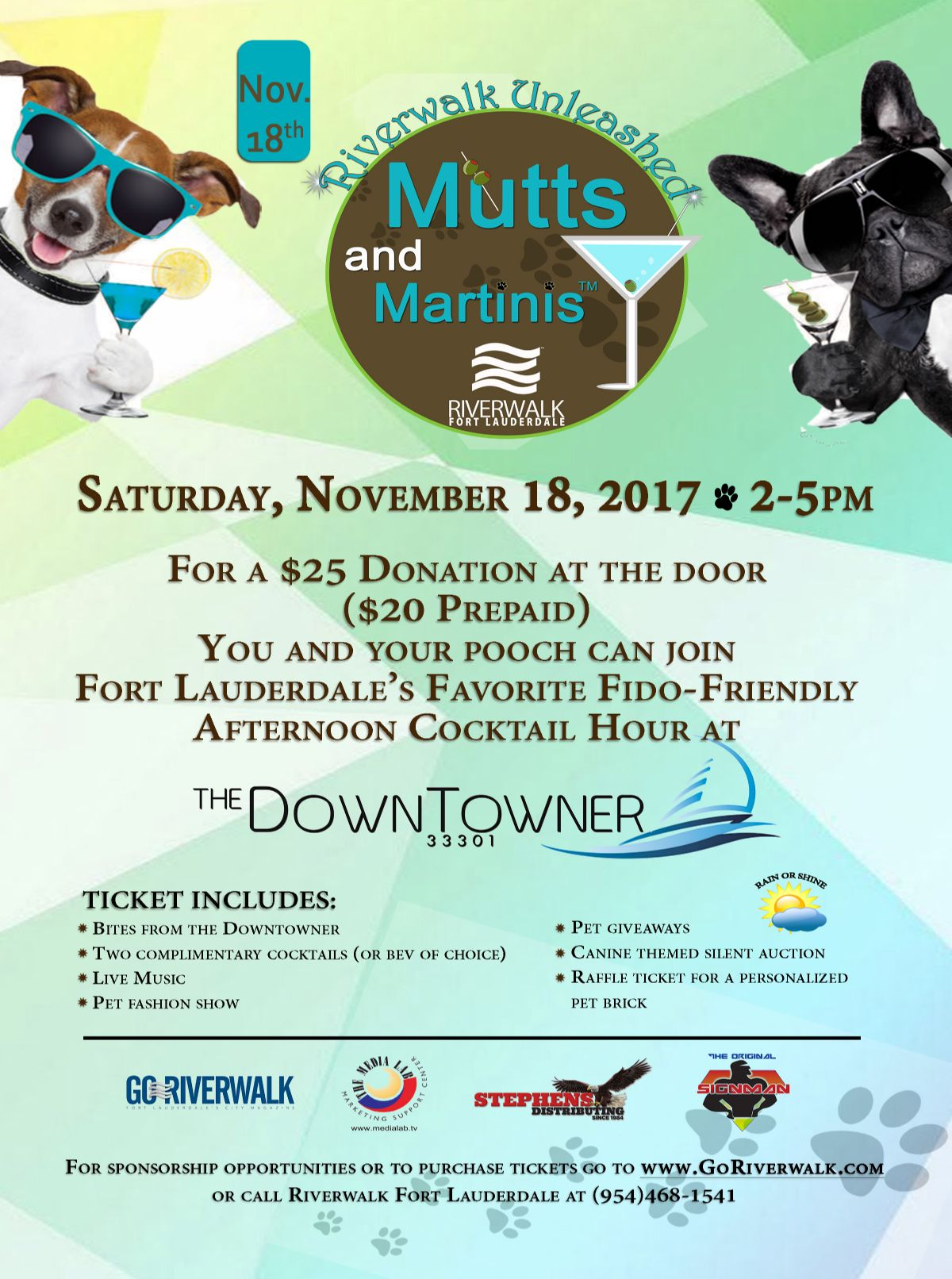 Riverwalk's 12th annual Mutts & Martinis™