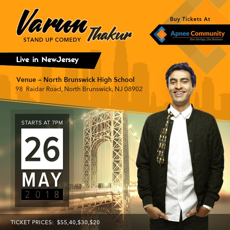 Stand Up Comedian 'Varun Thakur' Live in New Jersey