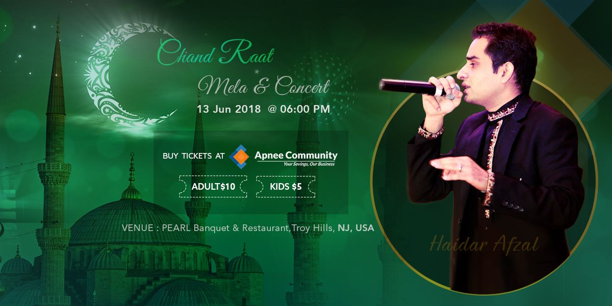 Chand Raat Mela & Concert Live in New Jersey