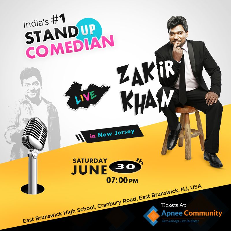 Zakir khan Stand Up Comedy Show Live in New Jersey