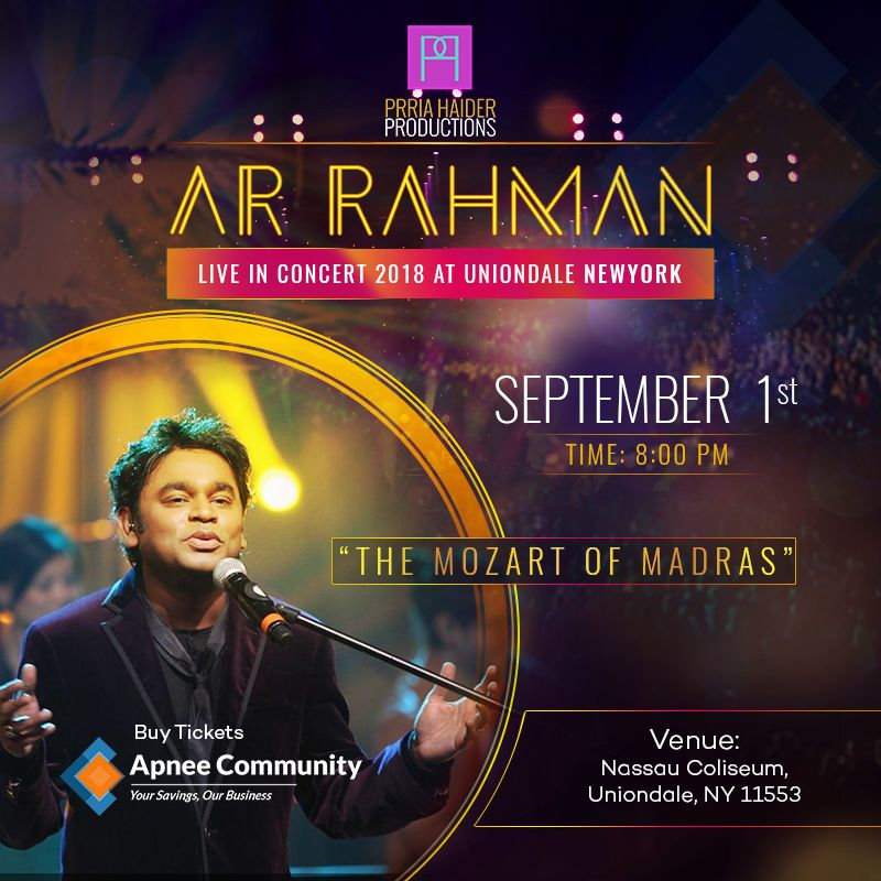 A.R. Rahman Music Concert 2018 Live in Uniondale, New York