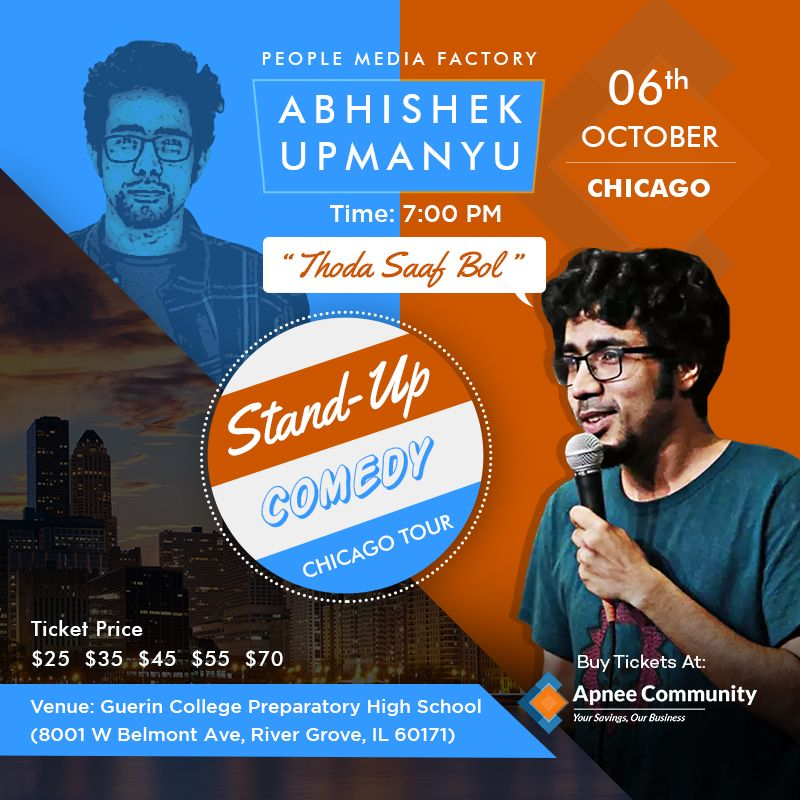 Abhishek Upmanyu Stand-Up Comedy Live in Chicago