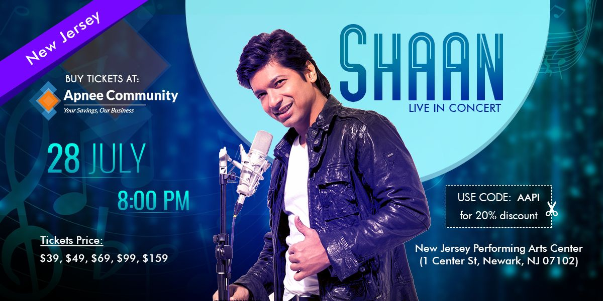 Shaan Live Music Concert in Newark, New Jersey