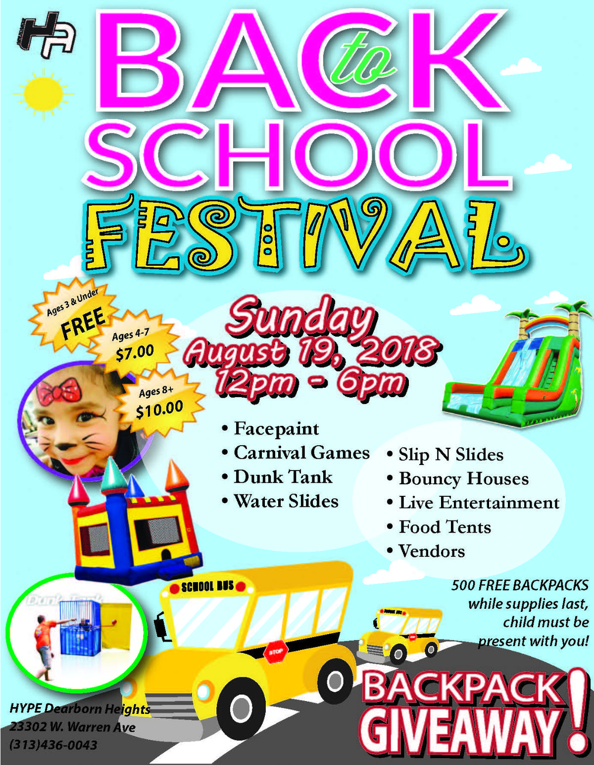HYPE Athletics Annual Back To School Festival