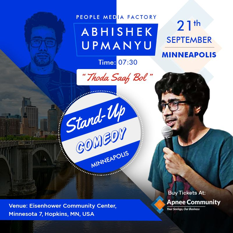 Abhishek Upmanyu Comedy Show Live in Minneapolis