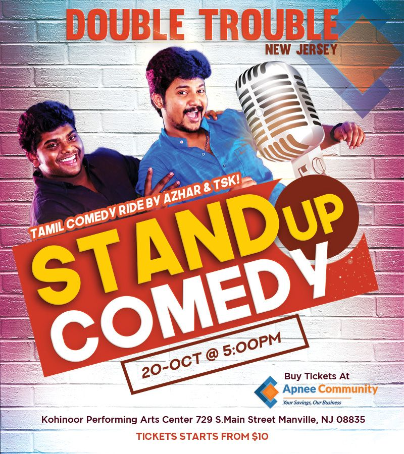 Double Trouble – Tamil Comedy Ride in New Jersey