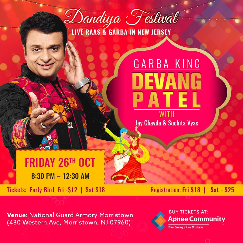 The Biggest Dandiya Festival With Devang Patel – Oct 26th