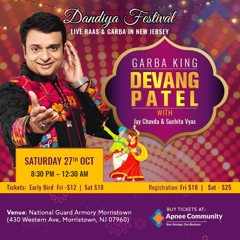 The Biggest Dandiya Festival With Devang Patel – Oct 27th