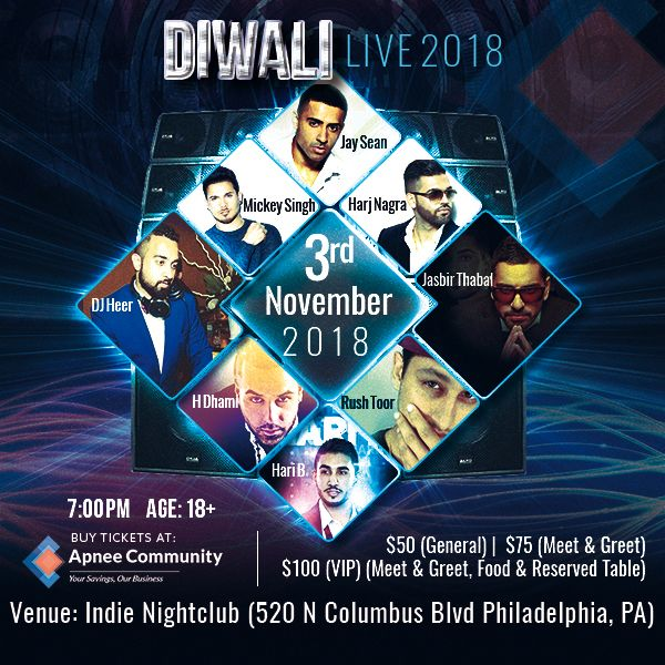 Jay Sean and Mickey Singh – Diwali Live 2018