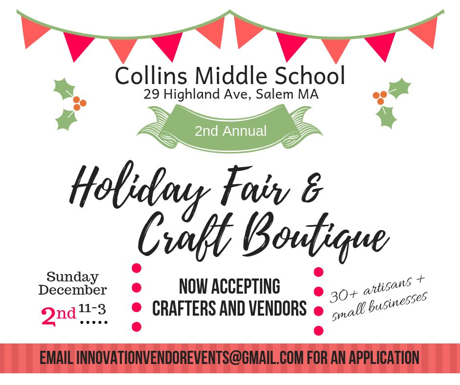 2nd Annual Collins Middle School Holiday Fair & Craft Boutique
