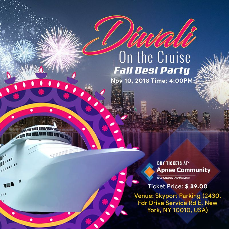 Diwali on The Cruise: Fall Desi Party – New York