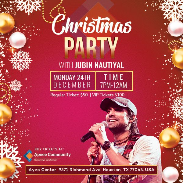 Christmas Party with Jubin Nautiyal – Houston