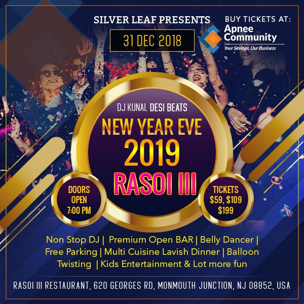 RASOI III New Year Eve 2019