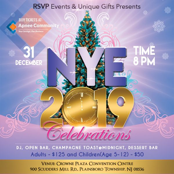 RSVP & Unique Gifts – NYE 2019 Celebration