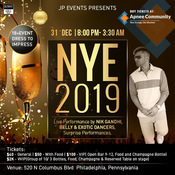 JP Events – New Year's Eve 2019