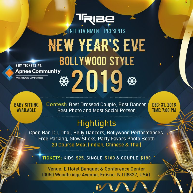 New Year's Eve Bollywood Style 2019