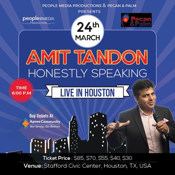 Honestly Speaking – Amit Tandon Stand-Up Comedy: Live in Houston