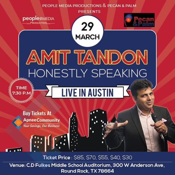 Honestly Speaking-Amit Tandon Stand-Up Comedy: Live in Austin