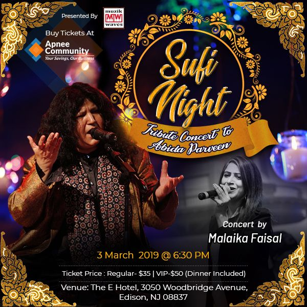 Sufi Night – Tribute Concert to Abida Parveen