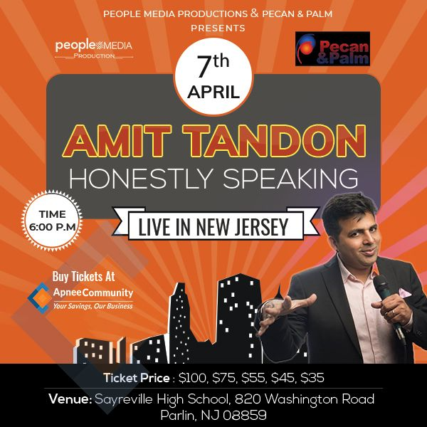 Honestly Speaking: Amit Tandon Stand-Up Comedy: Live in New Jersey