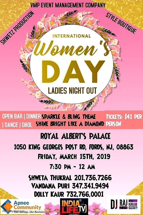 International Women's Day Ladies Night Out - New Jersey