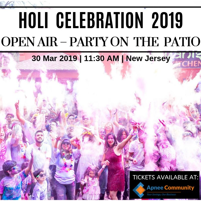 Holi Celebration 2019 – Open Air – Party on the Patio