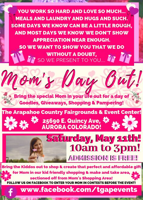 Mom's Day Out! A Mother's Day Shopping & Pampering Event!