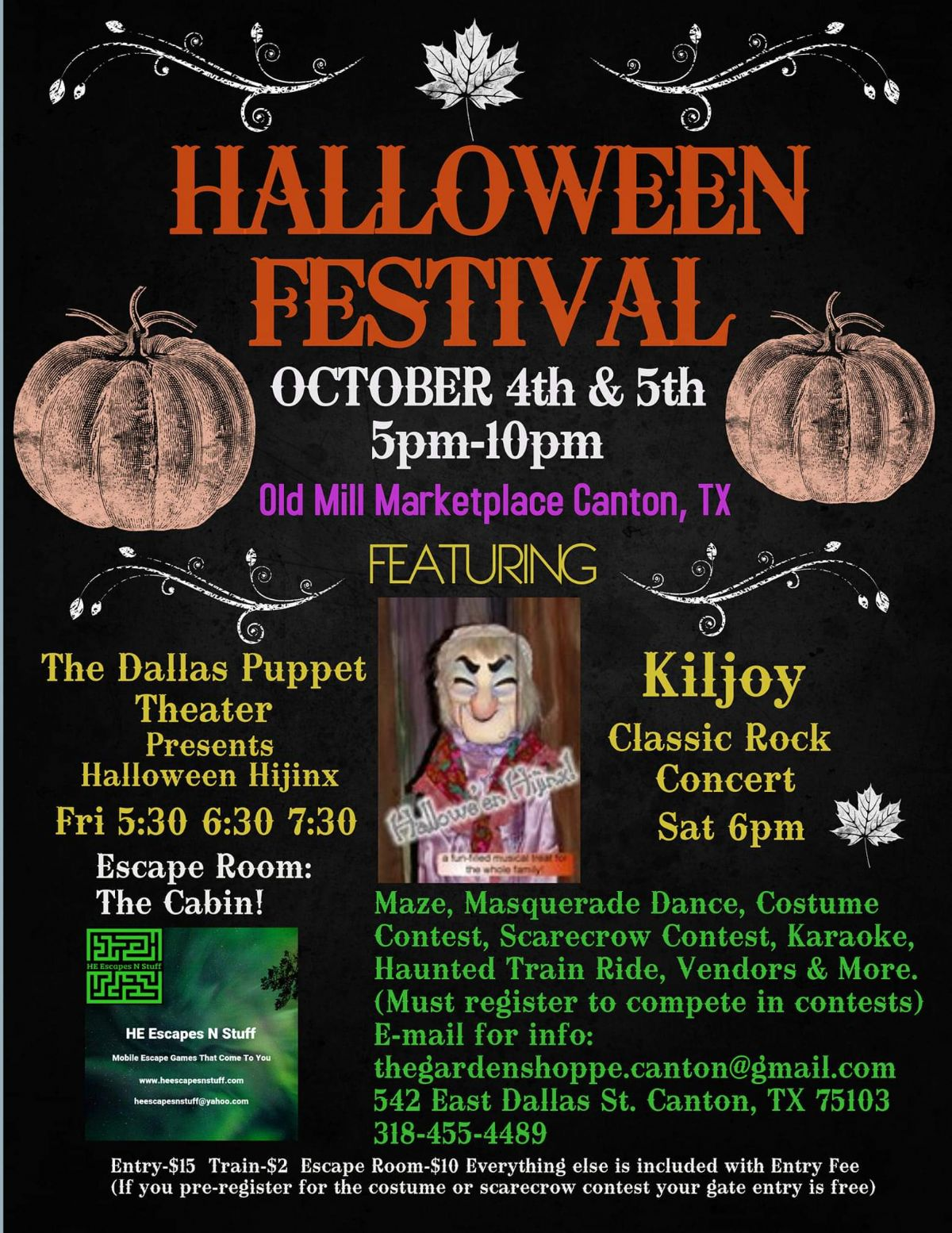 Old Mill Marketplace Halloween Festival