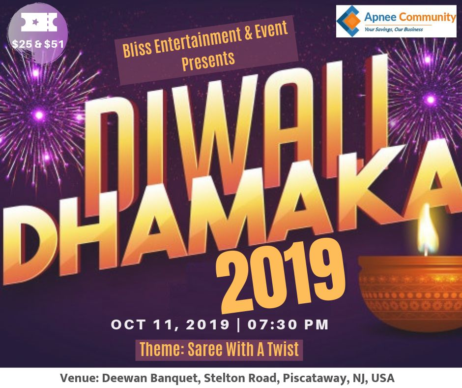 Diwali Dhamaka 2019 in New Jersey
