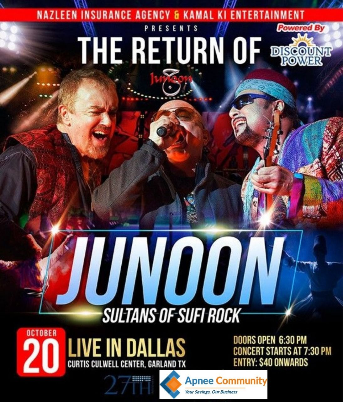 Junoon Live in Concert – Dallas (The Sultans of Sufi Rock Return!)