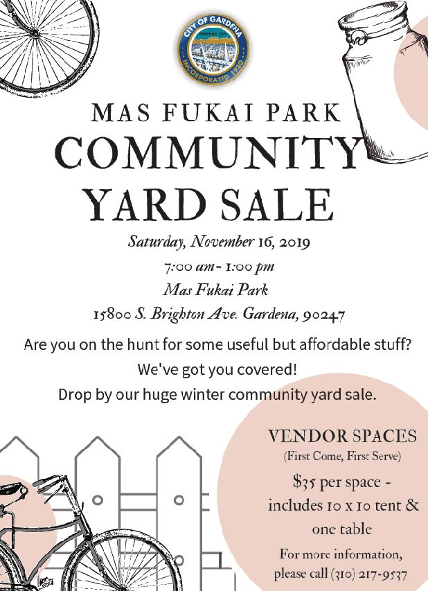 Mas Fukai Park Community Yard Sale