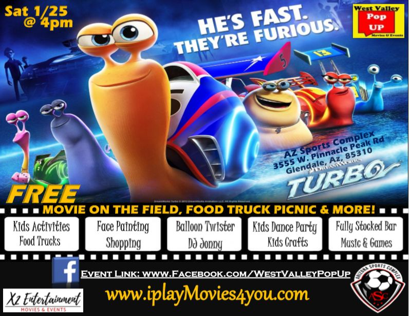 Az Sports Complex PopUP Food Truck Movie Night & MORE! Sat 1/25