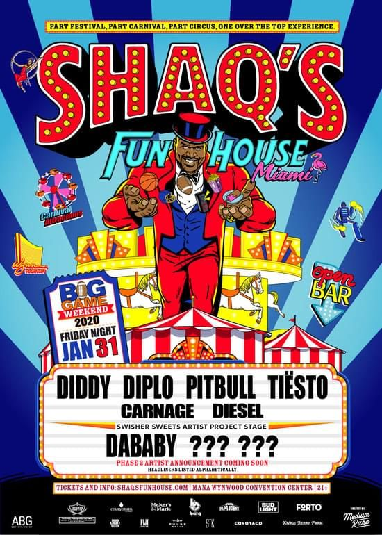 Shaq Fun House Miami Lineup