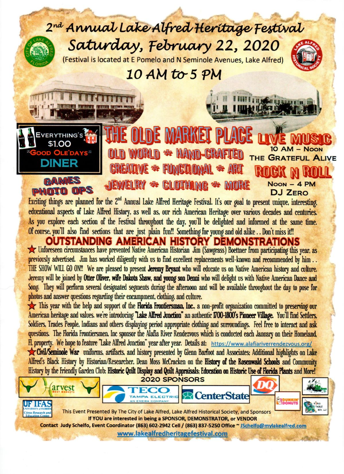 2nd Annual Lake Alfred Heritage Festival