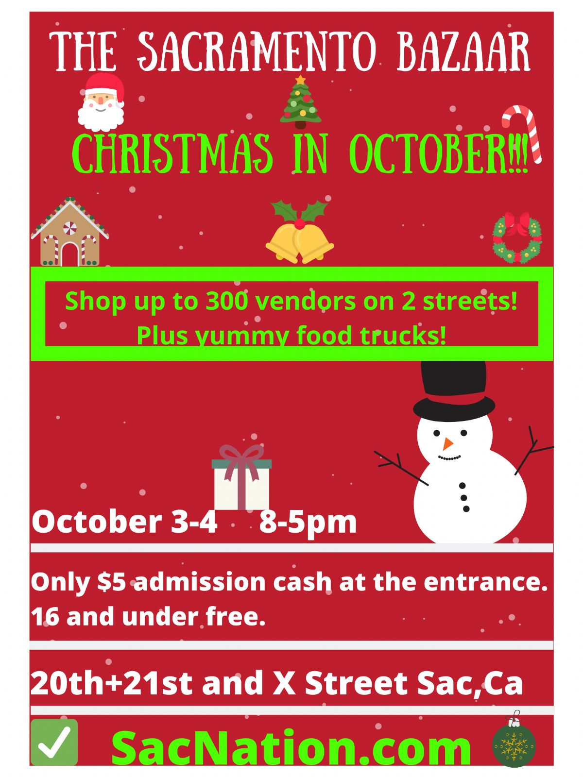 The Sacramento Bazaar Xmas In October